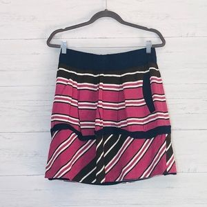 Anthropology Maeve Striped Small Tiered Skirt